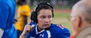 Female high school quarterback throws TD on 1st pass in varsity game