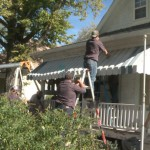 3 Dozen College Students Paint Deployed Soldier's House